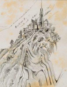 Zeichnung von Wilhelm Fuchs