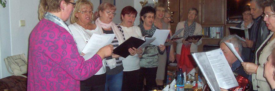 Singen auf der Neujahr-Feier in Kaschau