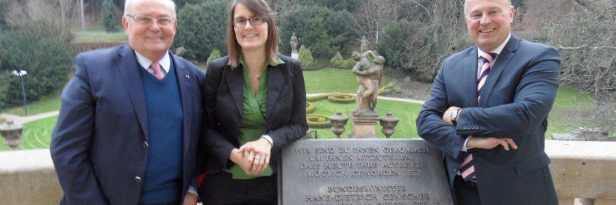 KDV-Vorsitzender und Koschyk in Prag
