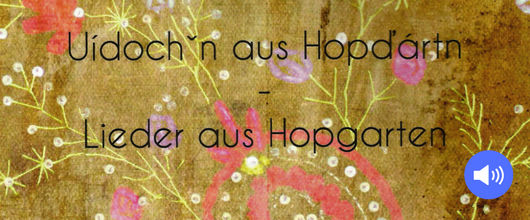 Liederheft Hopgärtnerisch