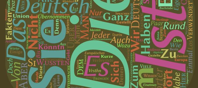 Wortwolke zur deutschen Sprache