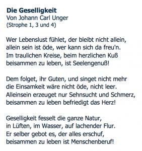 Gedicht von Unger