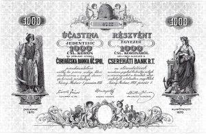 Aktie der Cserehater Bank
