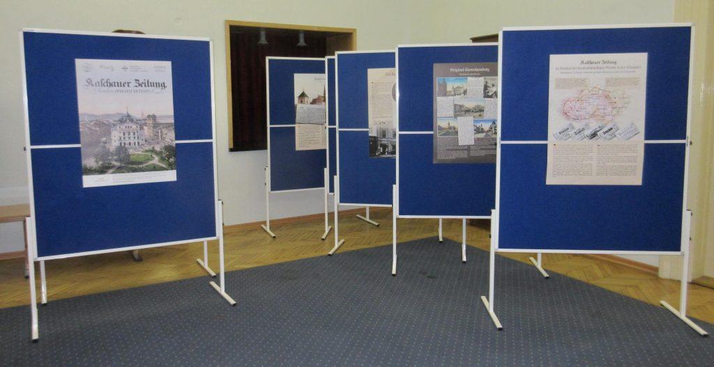 Die Ausstellungstafeln