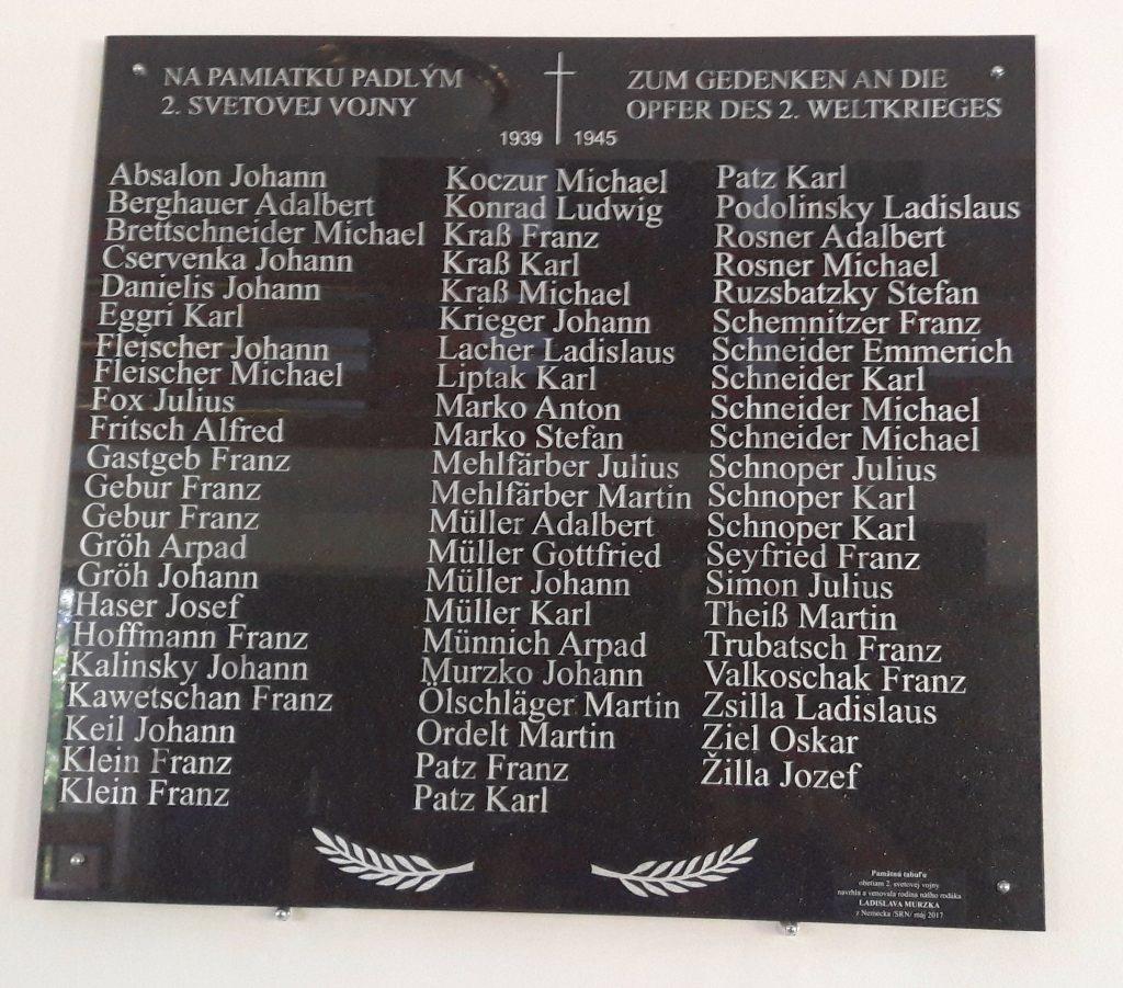 Gedenktafel in Schwedler