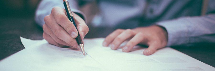 Unterzeichnen