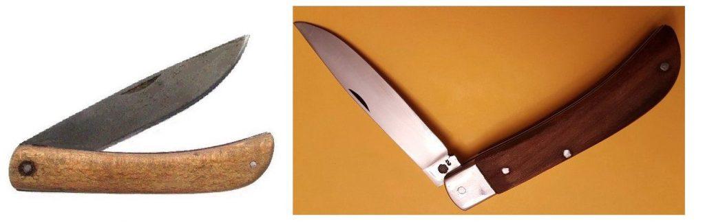 Altes und neueres Modell des Taschenmessers