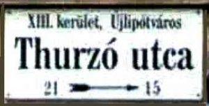 Thurzo-Straße in Budapest