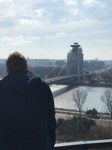 Bratislava Blick auf die Donau