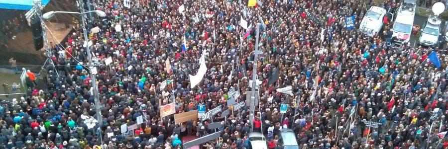 Proteste in der slowakischen Hauptstadt