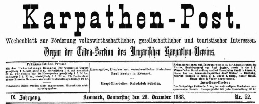 Scholz und die Karpathen-Post