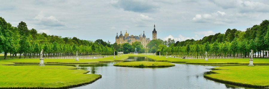 Gartenlage des Schlosses Schwerin