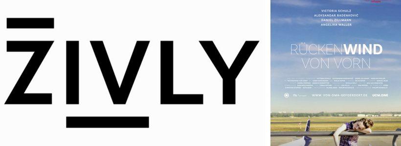 Logo 4 Zivly und Plakat Rückenwind von vorn