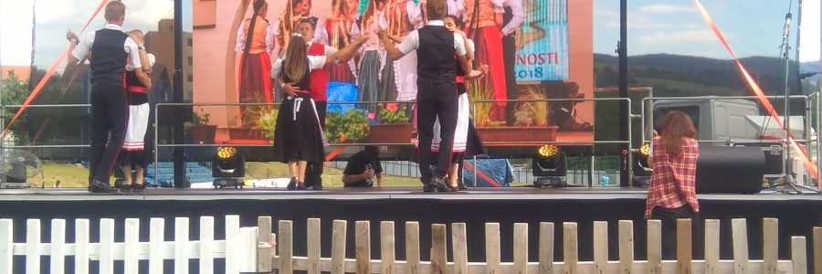 Tanzgruppe auf dem Bodwataltreffen