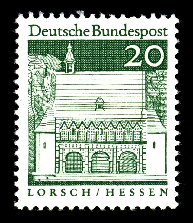 Kloster Lorsch auf einer Briefmarke