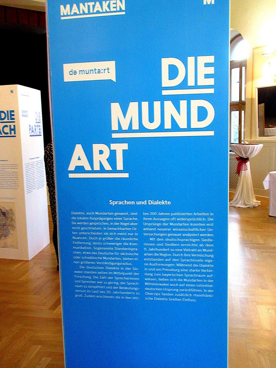Ausstellungstafel in der Mantaken-Ausstellung