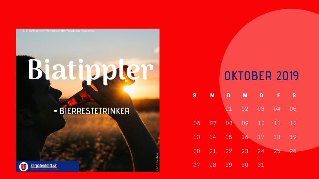 Karpatenblatt-Mundart-Kalender 2019