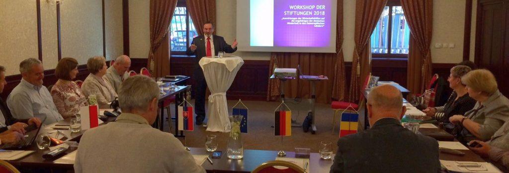 Jan König beim internationalen Workshop in Kaschau