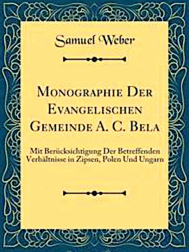 Pfarrer und Historiker Samuel Weber