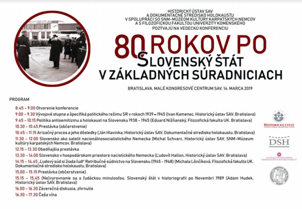 80 Jahre Slowakischer Staat