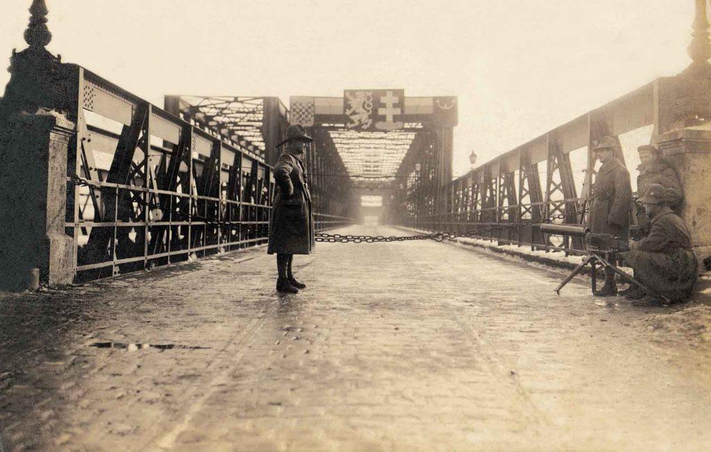 Donaubrücke Pressburg Bratislava alte Brücke
