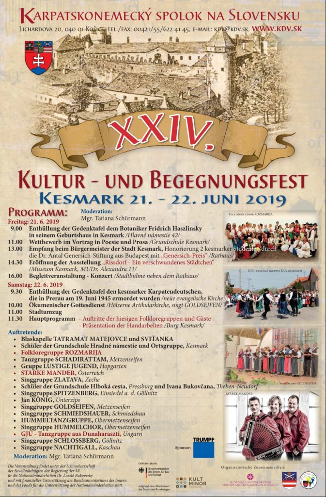 Kultur- und Begegnungsfest 2019 in Kesmark Kezmarok