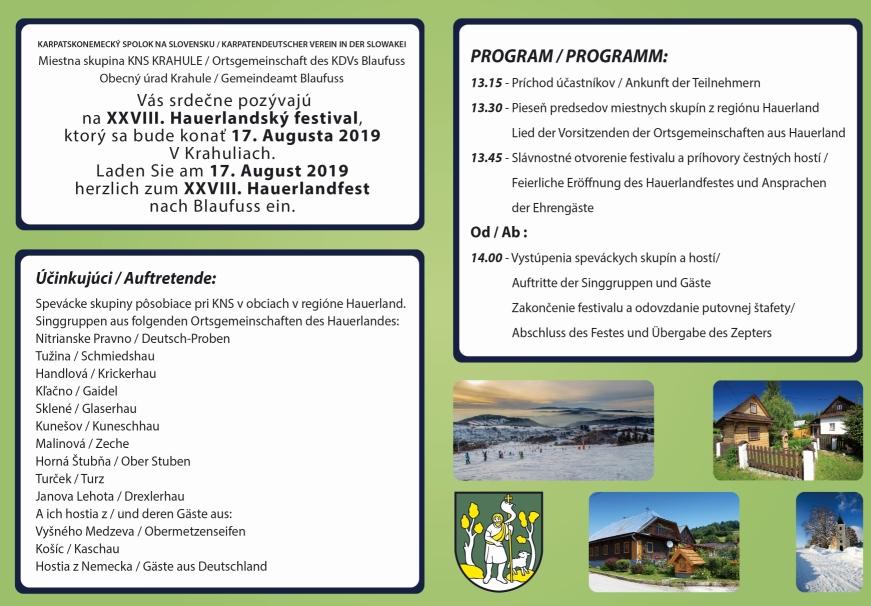 Hauerlandfest 2019 in Krahule Blaufuß