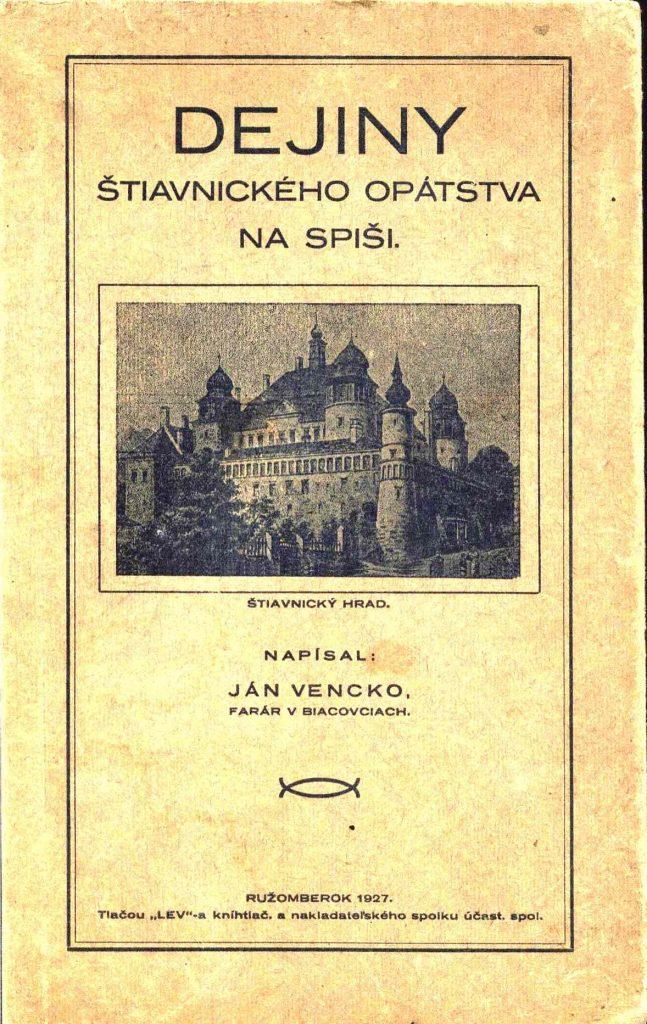 Pfarrer und Historiker Ján Vencko
