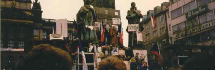 Samtene Revolution Wenzelsplatz