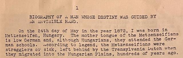 Biografie eines Mannes, dessen Schicksal von einer unsichtbaren Hand geführt wurde