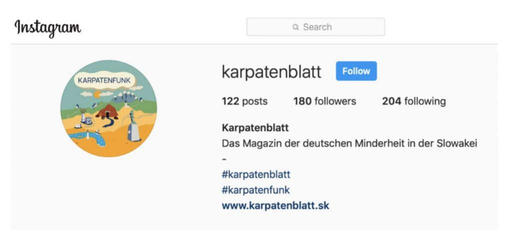 Karpatenblatt Instagram
