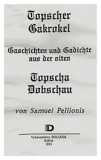 Samuel Pellionis Dobsina Topschau