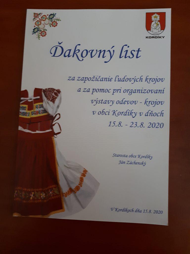 Trachten Ausstellung Kordiky
