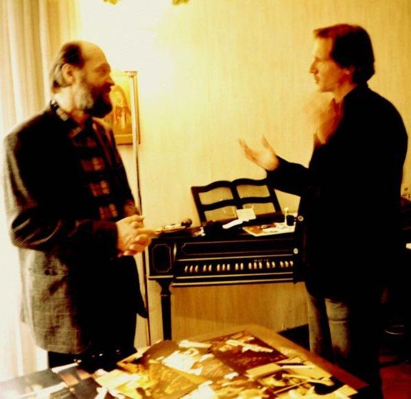 Peter Machajdík mit dem estnischen Komponisten Arvo Pärt