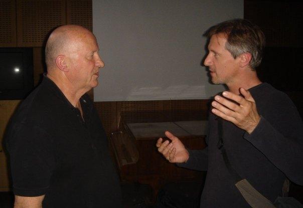 Der englische Komponist Gavin Bryars und Peter Machajdík © Zbyněk Prokop