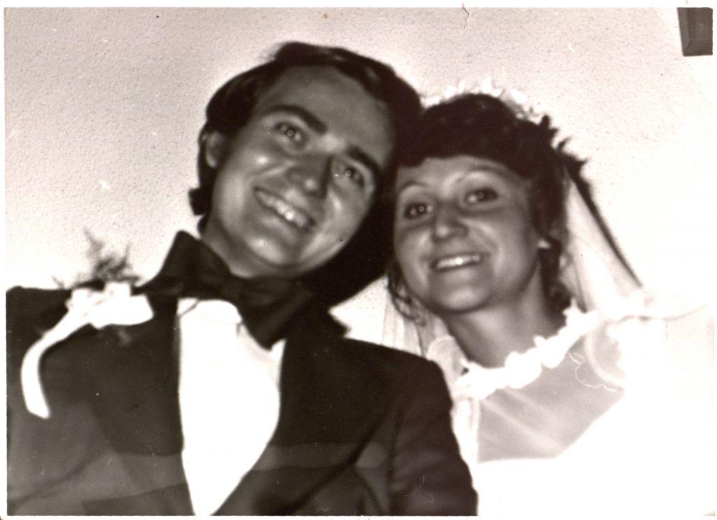 Das Hochzeitsfoto der Eheleute Pöss