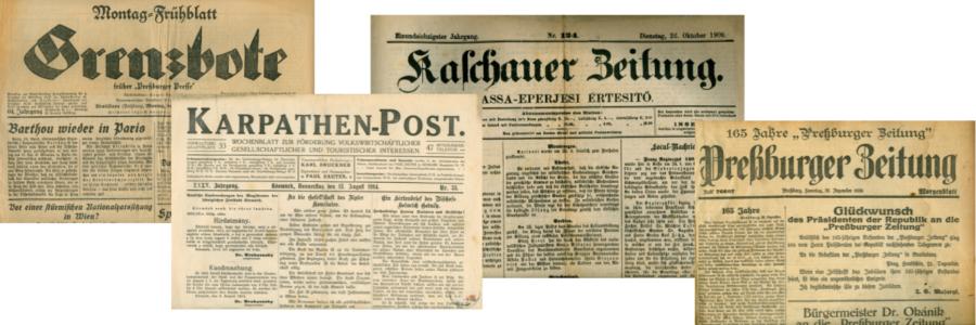 Deutschsprachige Presse in der Slowakei