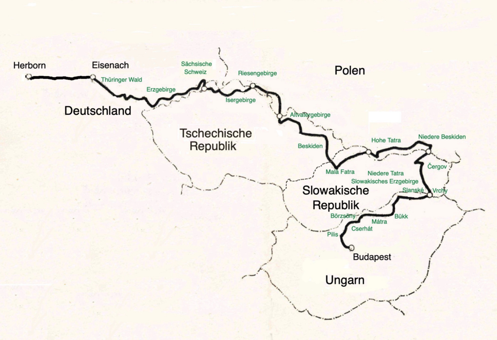 Fernwanderweg Eisenach-Budapest